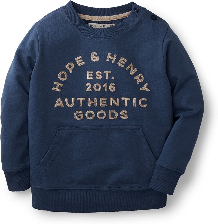 Hope & Henry Boys Light Weight French Terry Sweatshirt