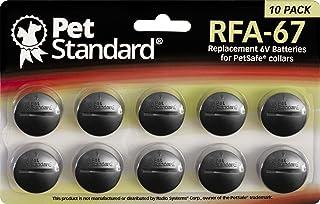 PET STANDARD RFA-67 Replacement 6V Batteries for PetSafe Dog Collars (Pack of 10)