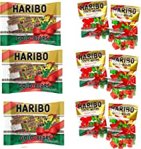 Haribo Gold-Bears Christmas Edition Gummi Candy Mini Packages, 28.5oz Total