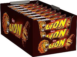 NESTLÉ LION Choco, Knusper-Schokoriegel mit Karamell-Füllung & Crispy Waffel, 24er Pack (24 x 42g)