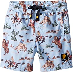 Rock Your Baby West World Boardshorts (Toddler/Little Kids/Big Kids)