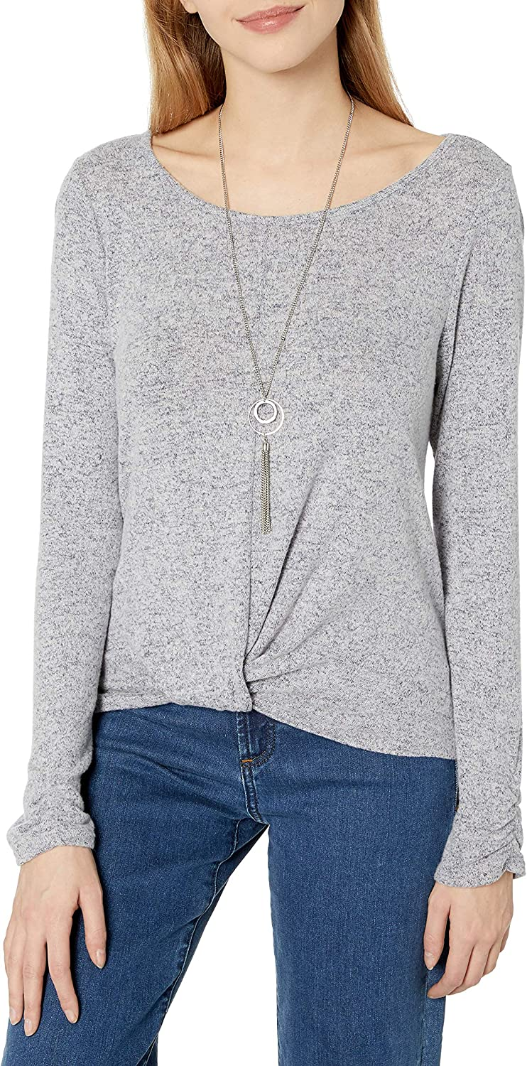 A Byer Womens Twist Front Pullover Top