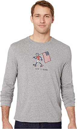 Patriotic Jake Smooth Long Sleeve T-Shirt