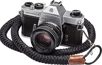 Helix Camera Strap - DSLR Camera Neck Straps 34 Inches - Paracord Design - 100% Handmade, Black