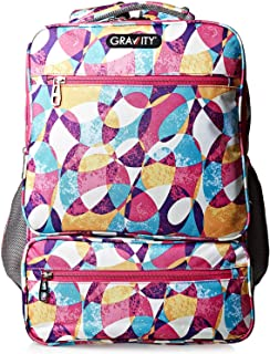 Gravity 18.5 inch Wide Flowers Backpack - Polyester, Multi Color