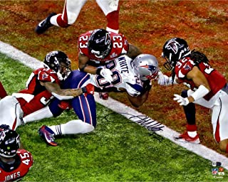 James White New England Patriots Autographed 16