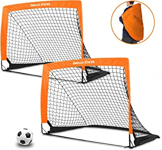 DIMPLES EXCEL Portable Soccer Goal with Fiber Glass Pole,...