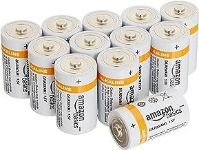 AmazonBasics D Cell 1.5 Volt Everyday Alkaline Battery - Pack of 12