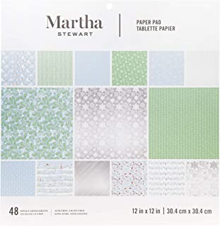 Martha Stewart 30068357 Paper Pad-Snowflake Paperpad, 12 x 12 inches, Multicolor