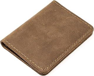 Pegai Minimalist Bifold Wallet, Distressed Leather Wallet - Knox | Sand Brown