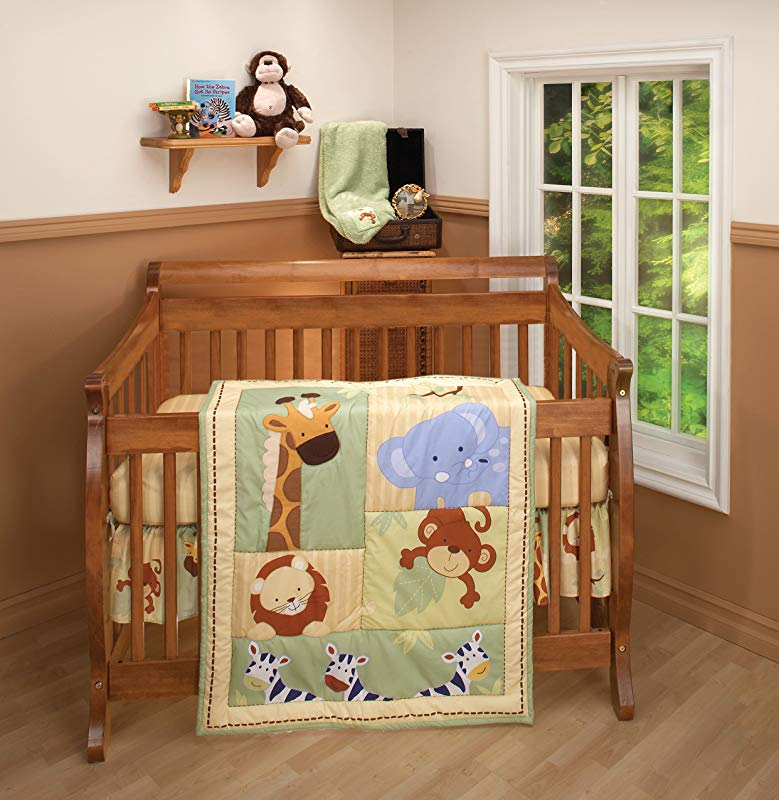 Nojo 3 Piece Comforter Set Safari Kids