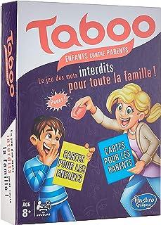 Hasbro Taboo Enfants contre Parents - Jeu de societe de réflexion - Version française