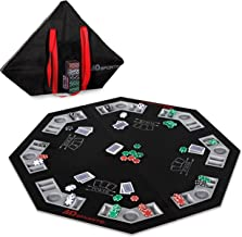 MD Sports Portable Table Roll-Top Poker Mat
