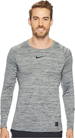 c611e0f7 Black/Cool Grey/Black. 40. Nike. Pro Heathered Long Sleeve Training Top