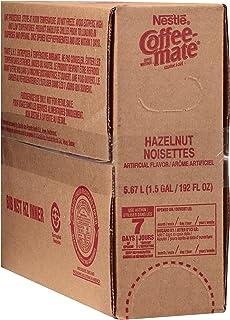 Nestle Coffee mate Coffee Creamer Liquid Bulk Box, Hazelnut, 192 oz