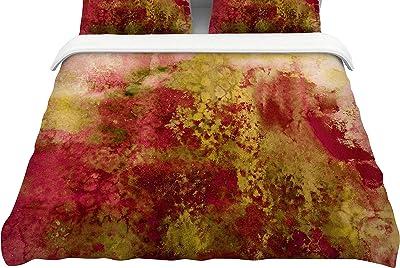 104 x 88 104 x 88 Kess InHouse Cyndi Steen Winsosr Flower King Cotton Duvet Cover