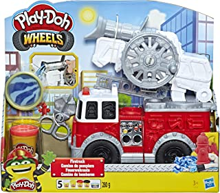 Play-Doh Wheels Firetruck Toy with 5 Non-Toxic Colors...