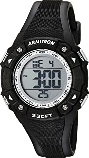 Armitron Sport Women's Digital Chronograph Teal Resin Strap Watch