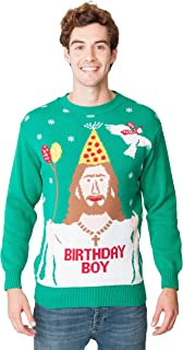 New Camp Ltd Christmas Xmas 2018 Mens Jumper Novelty Fairisle Santa Party Sweater Jumper Womens Unisex Jesus Birthday BOY ...