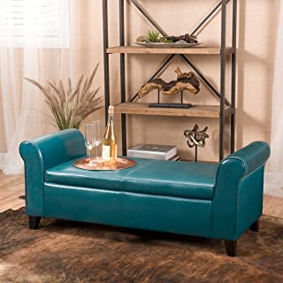 Best turquoise leather bench Reviews
