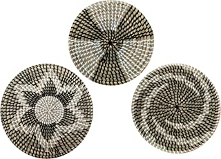 Sponsored Ad - Set of 3 Boho Woven Seagrass Baskets Flat Wall Art Decor- Placemat for Dining Table