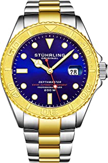Stuhrling Original Sport Watch For Men Stainless Steel - 893.04, Analog Display