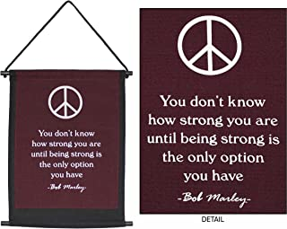 Peace Banner Bob Marley - Inspirational Banner - Wall Banner by Yogavni