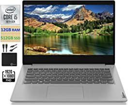 "2021 Newest Lenovo IdeaPad 3 14"" FHD Screen Laptop Computer, Intel Quad-Core i5-1035G1 Up to..."