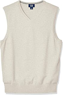 Men's Cotton-Rich Lakemont Anti-Pilling V-Neck Sweater Vest
