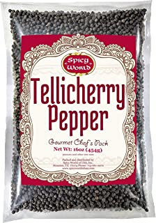 Spicy World Whole Black Peppercorns Tellicherry 16 Oz – Steam Sterilized -Non-GMO..
