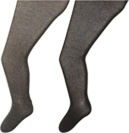 Jefferies Socks - Seamless Organic Cotton Tights 2-Pack (Infant/Toddler/Little Kid/Big Kid)