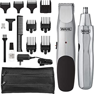 Wahl Groomsman Cord/Cordless Beard, Mustache Hair & Nose Hair Trimmer for Detailing & Grooming - Model 5623
