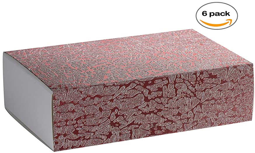 Pink Sleeve DIY Sliding Kraft Paper Box - Cardboard Drawer Luxury Boxes for Engagement, Birthday Party, Thanksgiving Occasion 7 x 4.75 x 2 (6 Pack)