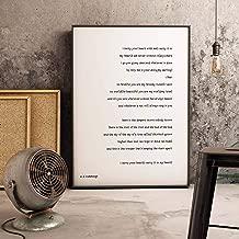 Arvier Framed Prints ee Cummings Art ee Cummings Print i Carry Your Heart Wall Art Bedroom Decor Wedding Poem Print Black White Home Decor Framed Wall Art