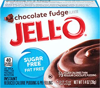 JELL-O Chocolate Fudge Instant Pudding & Pie Filling Mix (1.4 oz Boxes, Pack of 24)