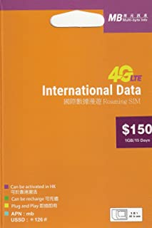 [MB]International Data 1GB 4G/3G 15日間 45ヶ国 データ通信SIMカード [並行輸入品]