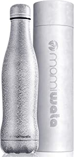 MAMI WATA Stainless Steel Water Bottle - Unique Stylish Design - Vacuum Insulated Double Walled Reusable Bottle - Beautiful Sparkle Coating - The Perfect Christmas Gift