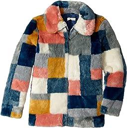 Stella McCartney Kids - Abbie Color Block Faux Fur Jacket (Little Kids/Big Kids)