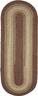 Super Area Rugs 2' X 6' Oval Hartford Braided Rug Indoor/Outdoor Kitchen Rug Runner Red Sunroom/Porch Carpet