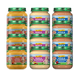 Earth's Best EB Fruit Combo Jars Variety Pack, 4 Oz, 12 Count