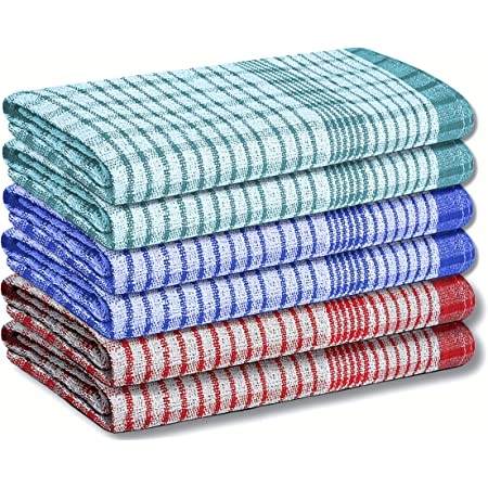 Shaws Direct multicoloured durable absorbent ZING MULTI 2 PACK TEA Towels