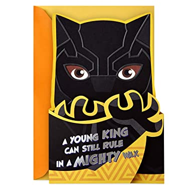 Hallmark Mahogany Black Panther Birthday Card for Kids (Young King)
