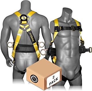 KwikSafety (Charlotte, NC) HURRICANE 2 PACK (w/Premium BACK SUPPORT) 3D Ring Safety Harness OSHA ANSI Full Body Fall Protection Equipment   For Construction Forklift Roofing Aerial Boom Scissor Lift