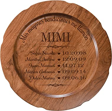"""LifeSong Milestones Personalized 12"""" Decorative Plate Spanish Verse Housewarming Gift for Parents Grandparents Loved Ones Woo"""