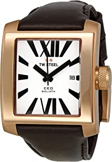 TW Steel Watch for Men, Leather, CE3007