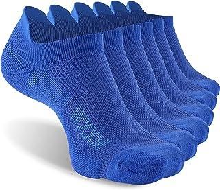Ankle Running Socks,WXXM Breathable Mesh Cushioned Comfort Cool Low Cut Tab Socks 3/6 Pairs