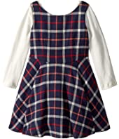 fiveloaves twofish - Flannel Fit N Flare Dress (Toddler/Little Kids)