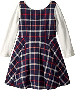 Flannel Fit N Flare Dress (Toddler/Little Kids)