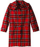 Oscar de la Renta Childrenswear - Button Up Plaid Wool Jacket (Big Kids)