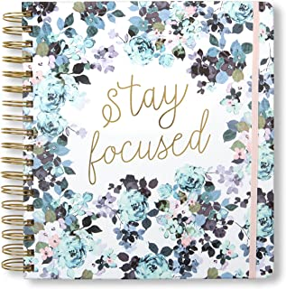 2019-2020 Stay Focused, 17 Month Daily Planners/Calendars: Tri-Coastal Design Planners with Monthly, Weekly and Daily Views - Personal Planner Notebook for Work or Home